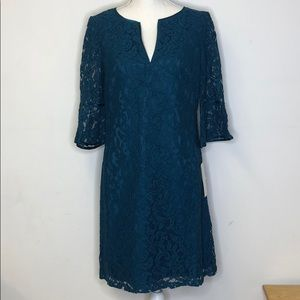 ADRIANNA PAPELL Dress NWT Size 8 Teal